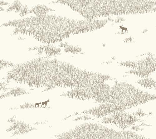 York Wallcoverings NR1504 Norlander Wild Tundra Wallpaper White