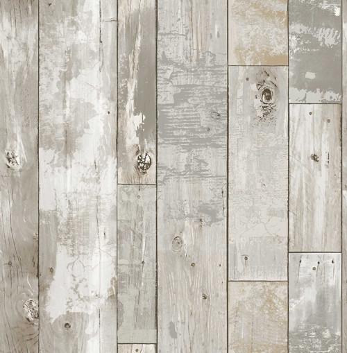 A-Street Prints by Brewster 2540-24054 Restored Deena Grey Distressed Wood Wallpaper