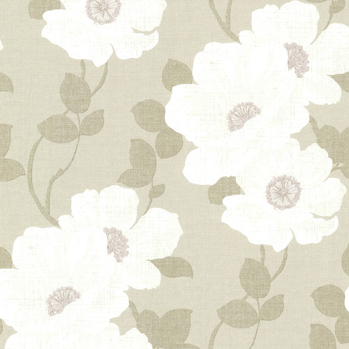 Beacon House by Brewster 2614-21051 Leala Wheat Modern Floral Wallpaper