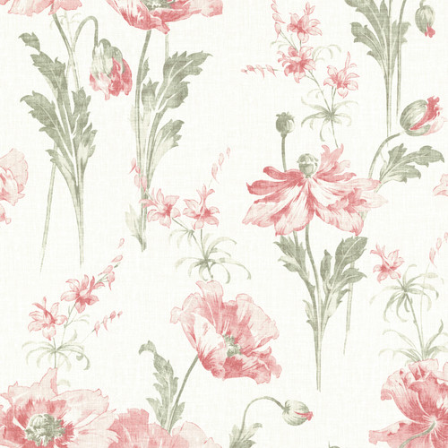 Beacon House by Brewster 2614-21017 Joliet Rose Floral Wallpaper