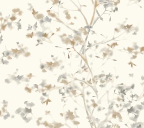 York Wallcoverings ON1609 Sunlit Branches Wallpaper Neutral
