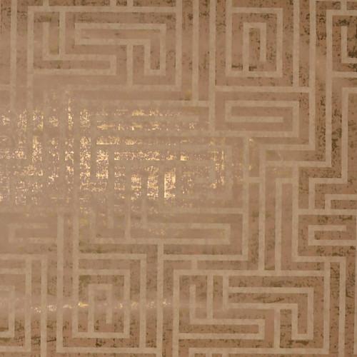Mid Century Wallpaper Collection, Modern Classic Pattern,A-Maze Wallpaper - Natural Cork