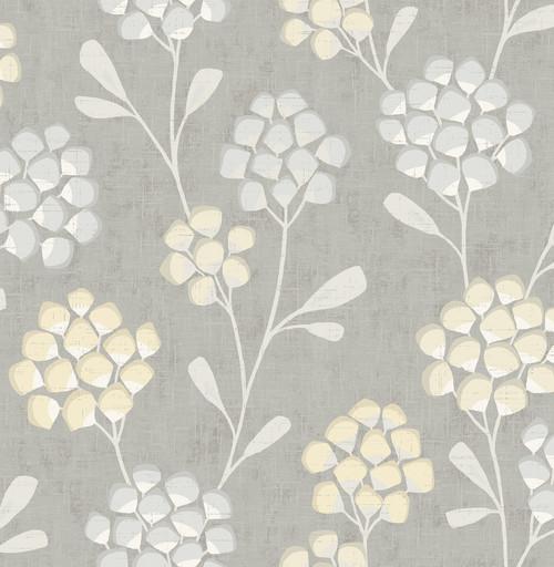 A-Street Prints by Brewster 2785-24863 Citrine Scandi Flora Wallpaper Yellow