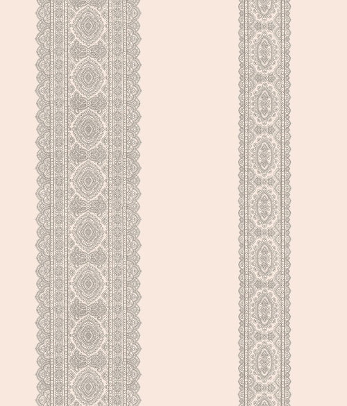 A-Street Prints by Brewster 1014-001835 Kismet Brynn Grey Paisley Stripe Wallpaper