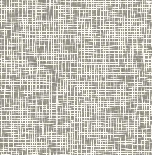 A-Street Prints by Brewster 2764-24329 Mistral Shanti Grey Grid Wallpaper