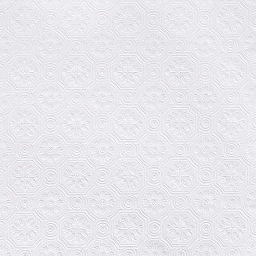 Brewster RD0151 Spencer Paintable Supaglypta Wallpaper white