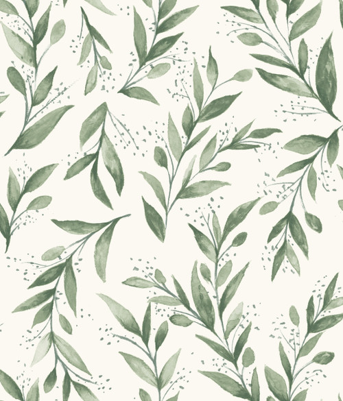 York Wallcoverings ME1535 Magnolia Home Vol. II Olive Branch  Olive Grove