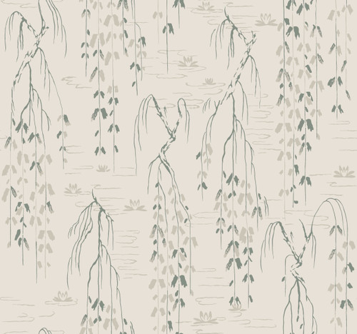 York Wallcoverings AF6583 Willow Branches Wallpaper Green