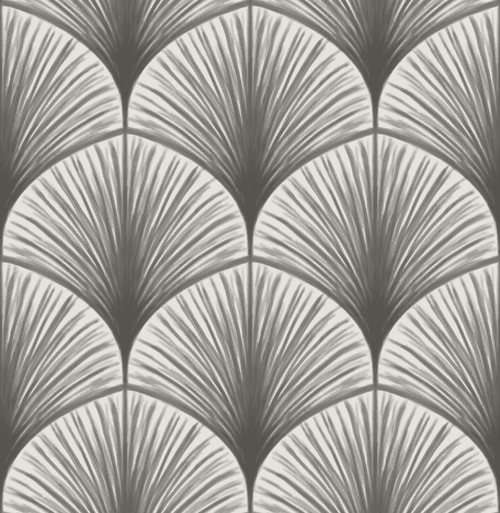 A−Street Prints by Brewster 2763-24230 Moonlight Dusk Grey Frond Wallpaper