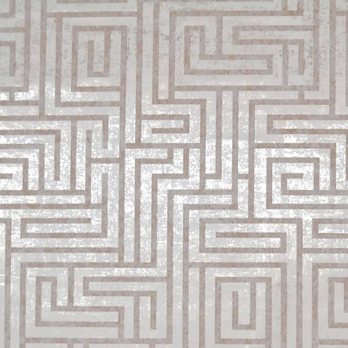 Mid Century Wallpaper Collection Modern Classic Pattern A-Maze Wallpaper White