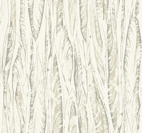 York Wallcoverings OG0584 Antonina Vella Elegant Earth Native Leaves Wallpaper Cream