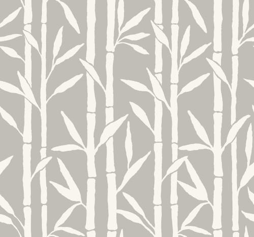 York Wallcoverings OG0606 Antonina Vella Elegant Earth Bamboo Grove Wallpaper Gray