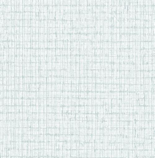 A-Street Prints by Brewster 2785-24848 Aqua Palmweave Wallpaper Blue