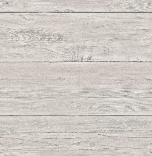 A-Street Prints by Brewster 2701-22323 Reclaimed White Washed Boards Grey Shiplap Wallpaper
