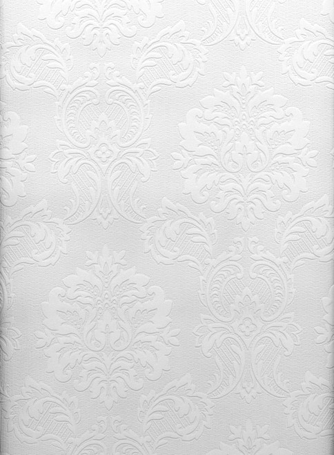 Paintable Solutions IV by Brewster 497-32808 Damascene Regal Print Paintable Wallpaper