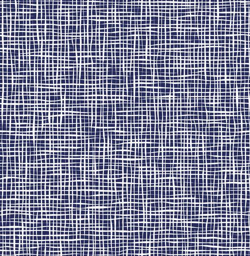 A-Street Prints by Brewster 2764-24330 Mistral Shanti Blue Grid Wallpaper