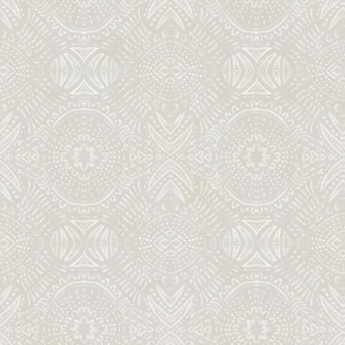 Chesapeake by Brewster 3118-12664 Birch & Sparrow Java Light Grey Medallion Wallpaper