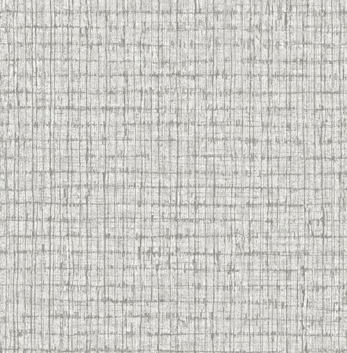 A-Street Prints by Brewster 2785-24850 Graphite Palmweave Wallpaper Grey