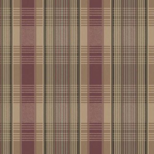 YorkLG1417Rustic Living Wallpaper Collection,Bartola Plaid Wallpaper - Red/Mustard