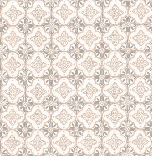 A-Street Prints by Brewster 1014-001855 Kismet Geo Pink Quatrefoil Wallpaper