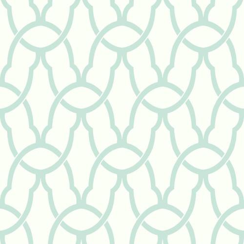 RoomMates RMK9120WP Trellis Blue  Peel & Stick Wallpaper Blue