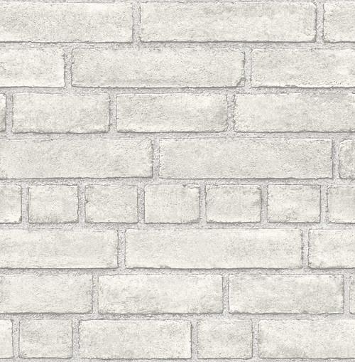 A-Street Prints by Brewster 2540-24051 Restored Façade Dove Brick Wallpaper