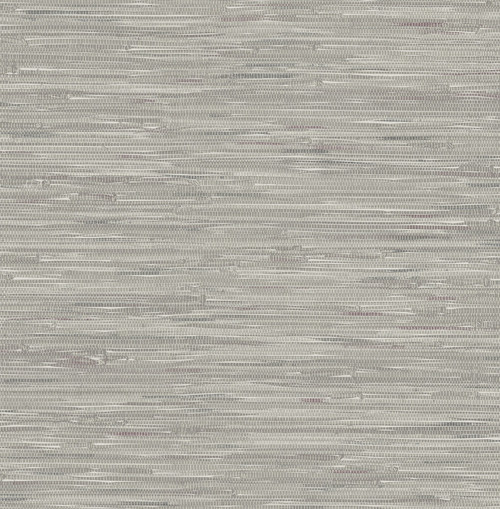 Brewster 2657-22268 Natalie Grey Faux Grasscloth Wallpaper