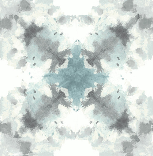 A−Street Prints by Brewster 2763-24211 Moonlight Mysterious Teal Abstract Wallpaper