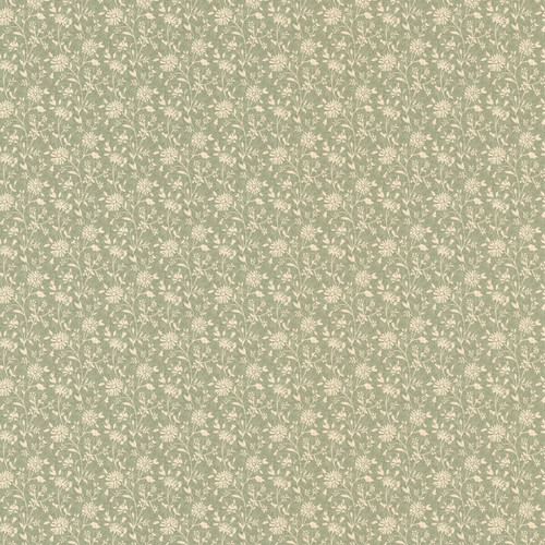 Kitchen, Bath and Bed Resource IV by Brewster 414-58501 Emilia Green Small Daisy Wallpaper