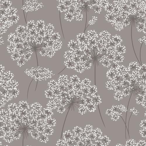 NuWallpaper by Brewster NU1693 Angelica Grey Peel & Stick Wallpaper