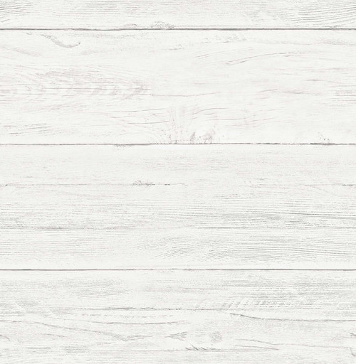 A-Street Prints by Brewster 2701-22307 Reclaimed White Washed Boards Cream Shiplap Wallpaper
