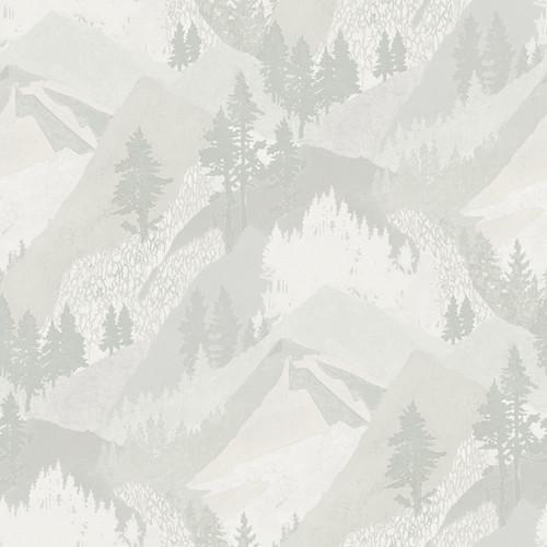 Chesapeake by Brewster 3118-12633 Birch & Sparrow Range Light Grey Mountains Wallpaper
