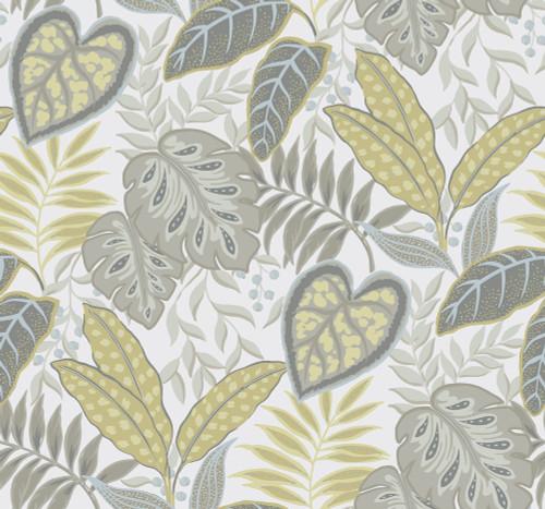 A-Street Prints by Brewster 2785-87423 Citrine Jasmine Wallpaper Grey