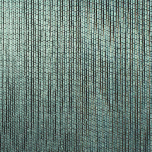 Kenneth James by Brewster 2622-54723 Jade Thanos Teal Grasscloth Wallpaper