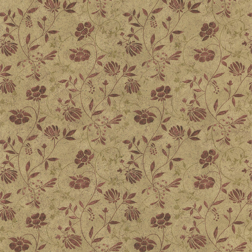 New Country by Brewster 418-44664 New Country Tudor Beige Country Jacobean Wallpaper