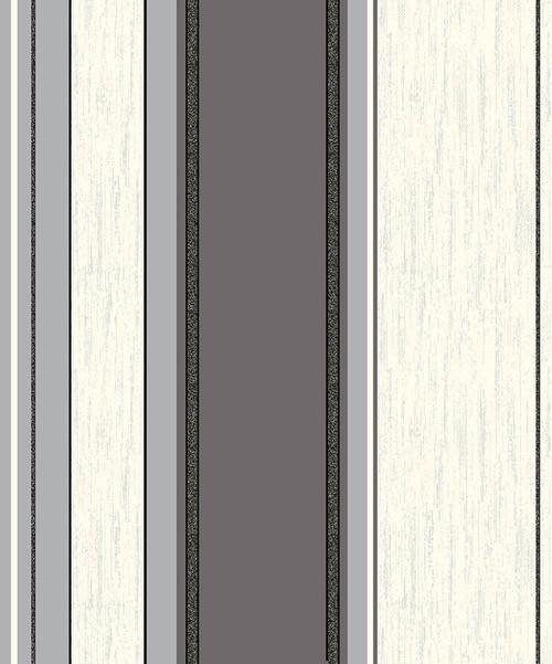 Advantage by Brewster 2834-M0785 Advantage Metallics Mirabelle Black Stripe Wallpaper