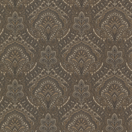 Beacon House by Brewster 2604-21221 Oxford Cypress Charcoal Paisley Damask Wallpaper