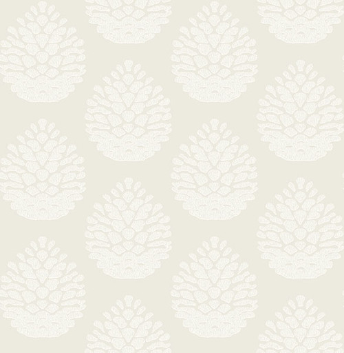 Chesapeake by Brewster 3118-25090 Birch & Sparrow Totem Eggshell Pinecone Wallpaper