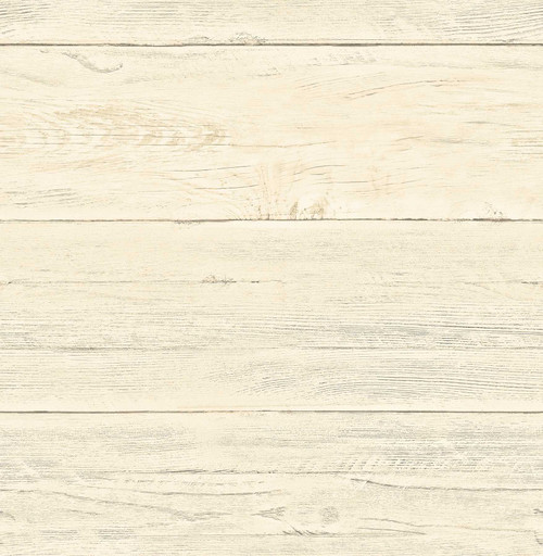 A-Street Prints by Brewster 2701-22324 Reclaimed White Washed Boards Honey Shiplap Wallpaper