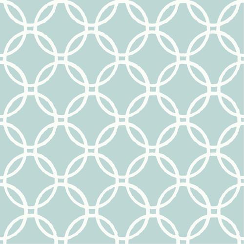 NuWallpaper by Brewster NU1654 Blue Links Peel & Stick Wallpaper