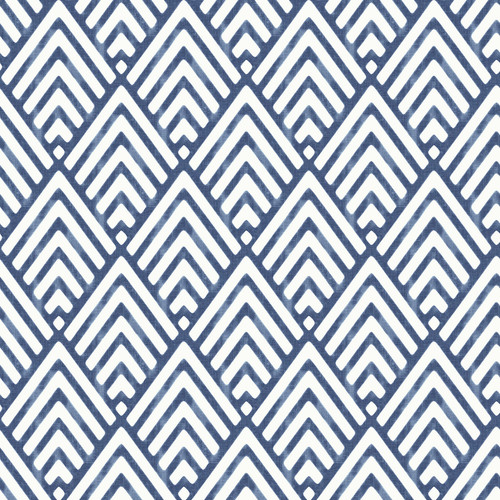 NuWallpaper by Brewster NU1701 Arrowhead Deep Blue Peel & Stick Wallpaper