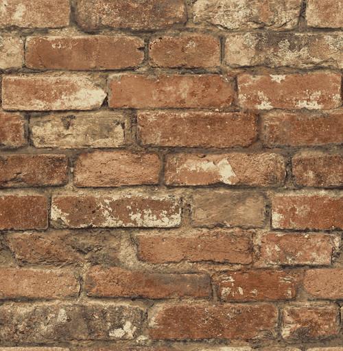 Chesapeake by Brewster MAN20097 Gentlemen's Quarters Oxford Rust Brick Texture Wallpaper