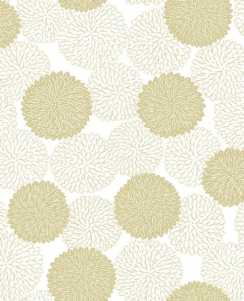 A-Street Prints by Brewster 2764-24302 Mistral Blithe Gold Floral Wallpaper