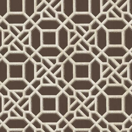 Chesapeake by Brewster 3112-002709 Sage Hill Adlington Brown Geometric Wallpaper