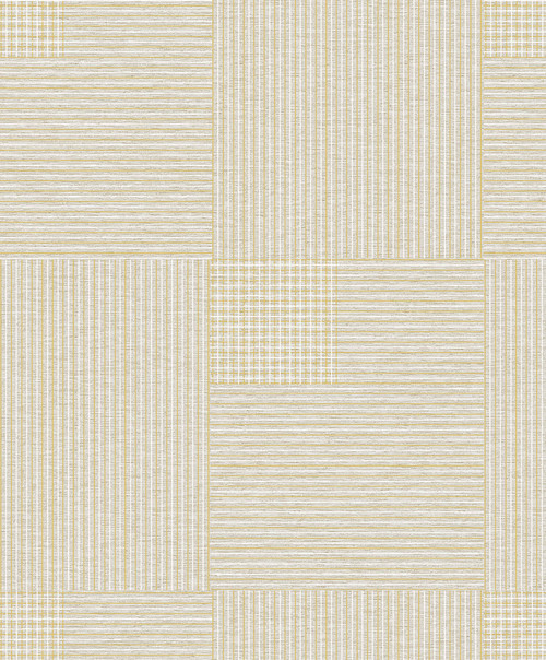 Brewster 2809-IH18403A Advantage Geo Ronald Beige Squares Wallpaper Beige