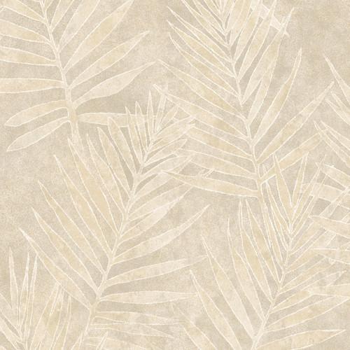 Warner Studios by Brewster ARB67535 Arbor Rose Grand Palms Cream Leaves Wallpaper