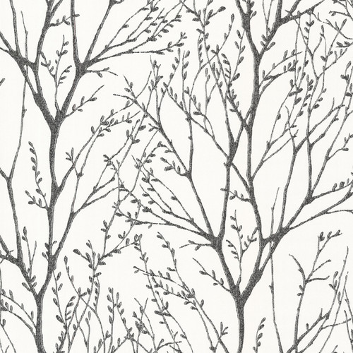 Brewster 2532-20424 Bath Bath Bath IV Delamere Black Tree Branches Wallpaper