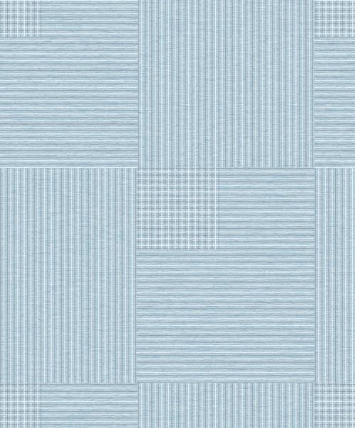 Brewster 2809-IH18406A Advantage Geo Ronald Blue Squares Wallpaper Blue