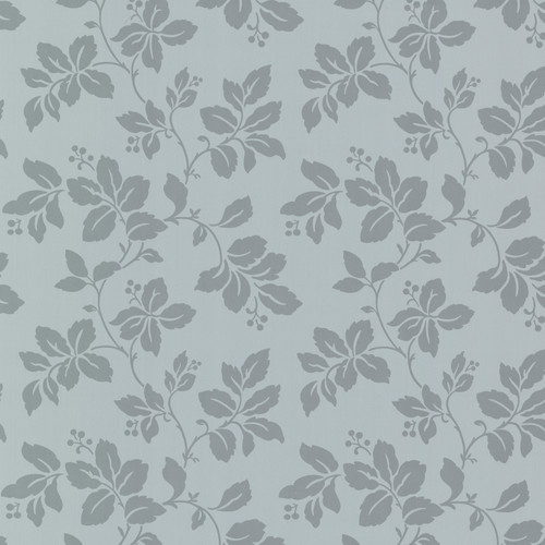 Beacon House by Brewster 344-68767 Claremont Phoebe Blue Rose Leaf Wallpaper