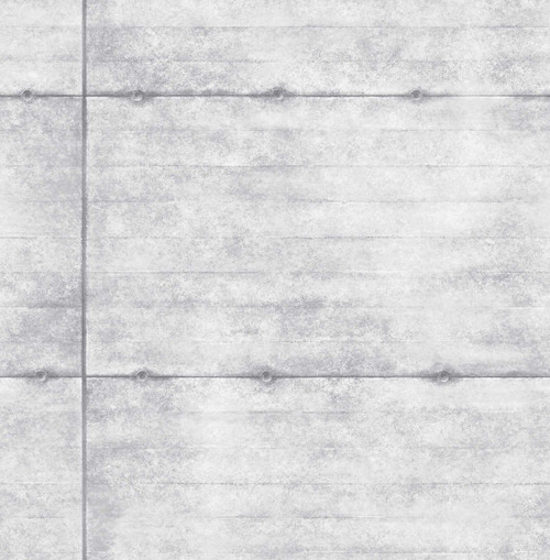 A-Street Prints by Brewster 2701-22303 Reclaimed Smooth Concrete Grey Geometric Wallpaper